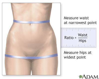 Waist-to-hip ratio