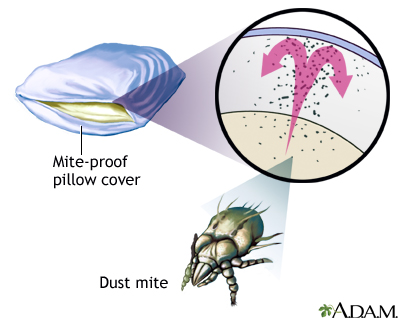 Dust mite-proof pillow cover