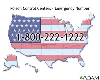 Número de emergencias de los Centros de Control de Envenenamientos