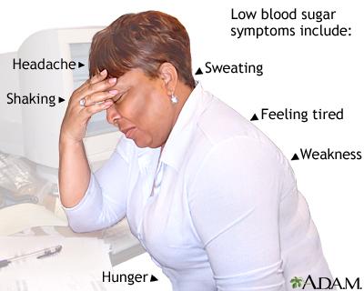 Síntomas de azúcar bajo en la sangre