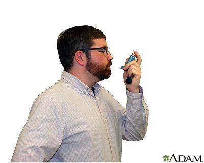 Metered dose inhaler – step three